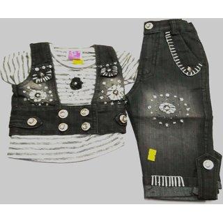 GIRL DENIM TOP KOTI CAPREE Pid  W 145 ( 1 - 2 Years ) Buy GIRL DENIM TOP KOTI CAPREE Pid  W ...