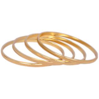 Pourni Gold Plated 4 Bangles (Design 1)