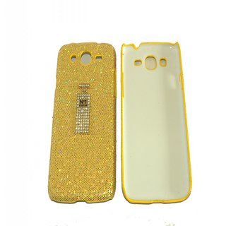 Sony Xperia C Back Cover With Spakle & Bottle Design- Yellow