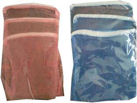 6 Pcs Multipurpose Fridge Storage Zipper Bags for Fruits and Vegetables