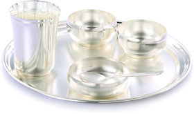 Giftsvale German Silver Dinner Set (Set Of 6)