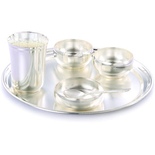 Giftsvale German Silver Dinner Set (Set Of 6)