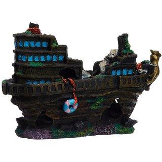 Taiyo aquarium decoration broken ship submersible toys for Aquarium decoration sealant