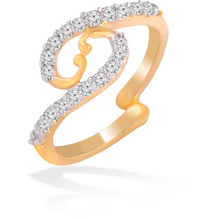 Brass Gold Cz Adjustable Size Ring By Jewelscart.In (JC01000207)