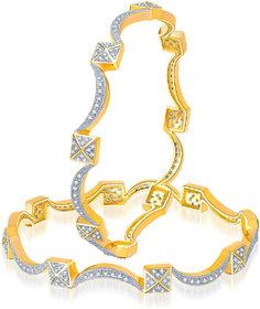 Meenaz Beautiful Design Cz American Diamond Bangles Ba109