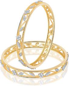Meenaz Party Wear Stunning Design Cz American Diamond Bangles Ba112
