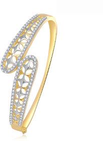 Meenaz Classy Design Cz American Diamond Cz Kada K-8
