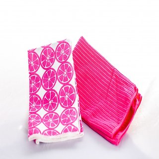 Microfiber Cleaning Cloth Pink (set of 2)