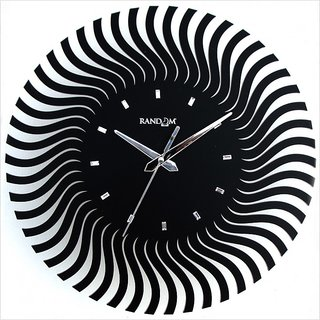 Random Web World Series Illusion Black 12'' Wall Clock