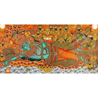 Kerala mural painting ananthasayanam buy kerala mural for Average cost of mural painting