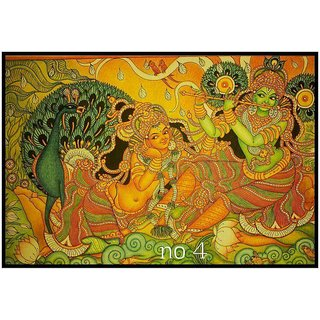 Kerala mural painting krishna with flute buy kerala for Average cost of mural painting