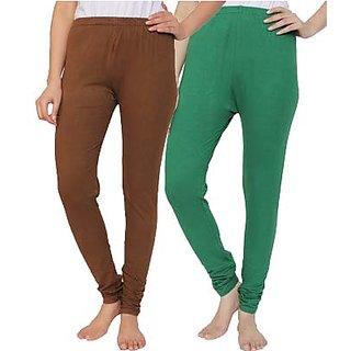 Krazy Katz Womens Cotton Stretch Leggings Pack Of 2 Kklyk126