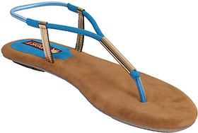 Blue Women Fabric  Synthetic Port Heels (utra 20)