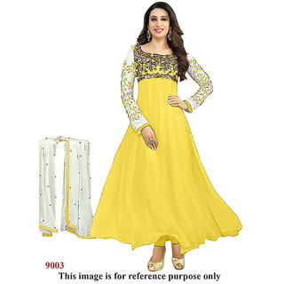 Ecoco Fashions Yellow Anarkali suit