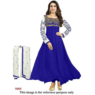 Ecoco Fashion's Blue  Anarkali suit
