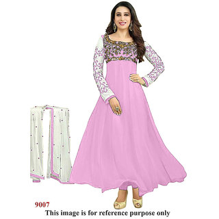 Ecoco Fashions Pink Anarkali suit