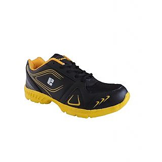 Elligator Black & Yellow Running Sports Shoes