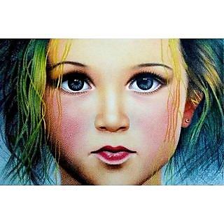 Pencil colour girl sketch