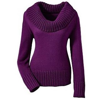 e9f2f9595b6bf2 Buy Designer Ladies Sweaters Purple Online   ₹980 from ShopClues
