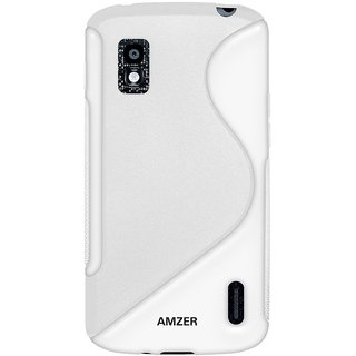 Amzer® TPU Hybrid Case - White for Google Nexus 4 E960