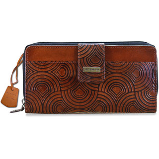 arpera self printed Brown Leather Wallet for Women C11244-2B