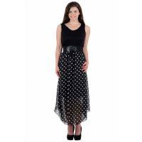 Westchic Black Polka Dotted Dress
