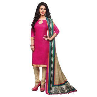 Ethnicbasket Khaki Cotton Lace Salwar Suit Dress Material (Unstitched)