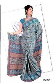 AbhinayaRetail Brown Banarasi Silk Self Design Saree With Blouse