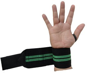 Kobo Power Wrist Weight Lifting Training Gym Straps With Thumb Support