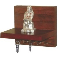 Ganeshaas Wooden Key Holder (Ghkh-004) With 5 Hooks