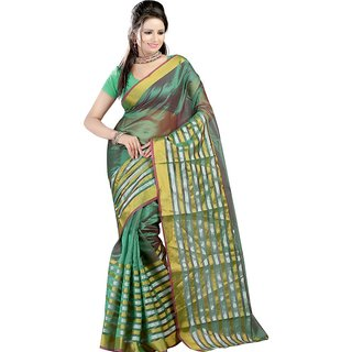 Sanju sarees Green Color Meghalaya Silk Sarees