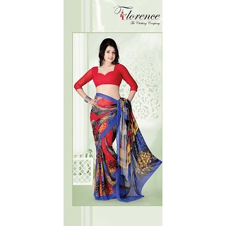 Florence Multi Color Faux Georgette Saree (FL-1170-AMulti)