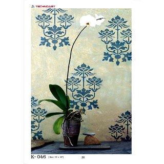 wall stencils flowers
