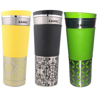 Camel Designer Sports Bottle in Pack of 3