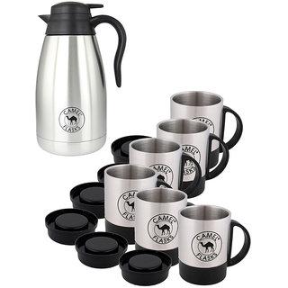 Camel Stainless Tea Pot Cum Mug Set of 7