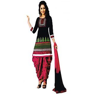 NKT Patiyala Queen Cambric Cotton  with Embroidery Dress Material (Unstitched)