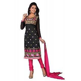 Parisha Khaki And Beige Cotton Printed Salwar Suit Dress Material