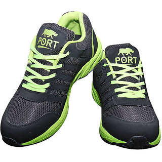 Port black green running shoes