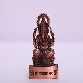 satya copper ganesh idol