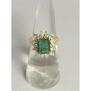 18k Gold Emerald Octagon Ring RN-R-09