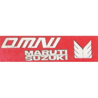 LOGO MARUTI OMNI VAN MONOGRAM EMBLEM CHROME Family Pack