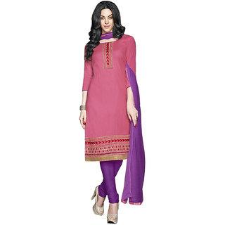 Best Peice Women's Pink Cotton  Dress Material