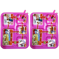 5 Sections Kids Plate - Set of 2