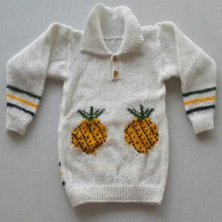 Buy Baby Woolen Sweater Hand Knitted Fruit Design For 2 5 Years Baby