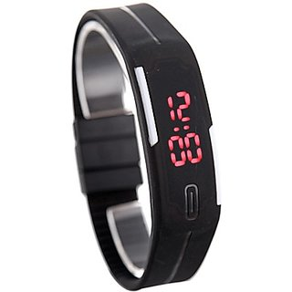Robotic Magnetic LED Watch Black