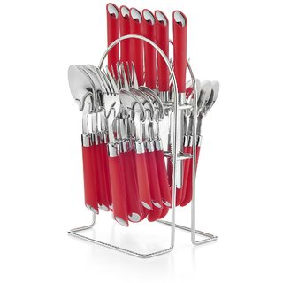 Pogo Impression Stainless Steel 24 Pcs Cutlery Set