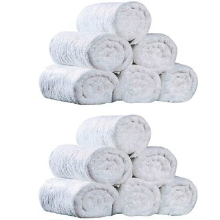Pack of 12 White Hand Towels