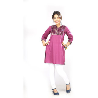 Dee Paris Purple cotton Kurti