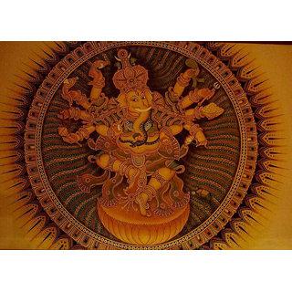 Kerala mural painting ganesha buy kerala mural painting for Average cost of mural painting