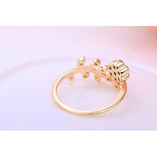 18K GOLD REAL DIAMOND LADIES RING